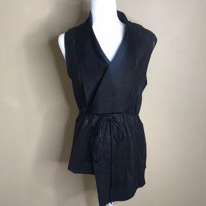 Zara faux black suede vest